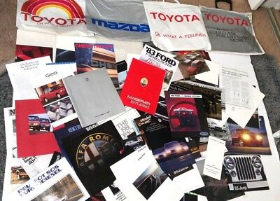 Lot of 90+ Vtg Car Truck Sales Brochures Ad BMW Porsche Maserati Alfa Romeo Audi