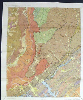 USGS LINVILLE FALLS GRANDFATHER MOUNTAIN WINDOW Vintage 1964 With MAPS NC NICE!!