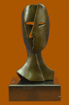 Pablo Picasso inspired Bronze Sculpture BEHIND THE MASK Hot Cast Artwork Figure