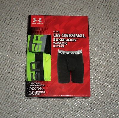 Nwt Boys Under Armour Ua Original Boxer Briefs 2 Pair Sz Xl Yxl