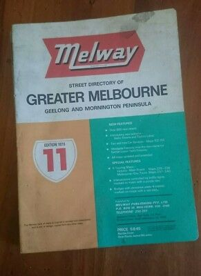 Melway Melways Greater Melbourne Street Directory Edition 11, 1978