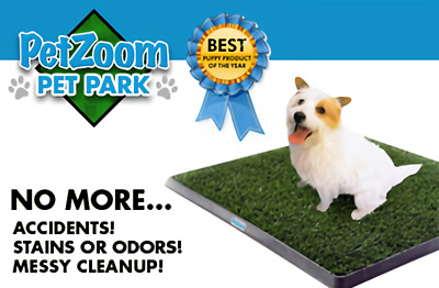 Dog Pet Potty Zoom Park Training Portable Mat Toilet Large Loo Pad Tray Indoor
