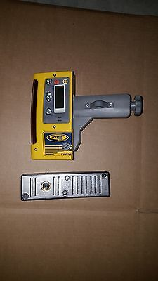 Used Spectra Precision CR600 Laser Receiver w/ Magnetic Mount and Rod Clamp