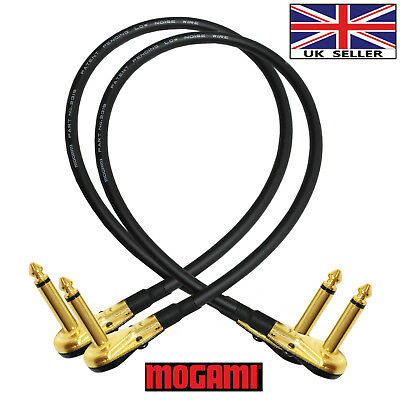 2x38cm Mogami 2319-Guitar Bass Effects Instrument Pedal Stomp Patch Cable (Gold)