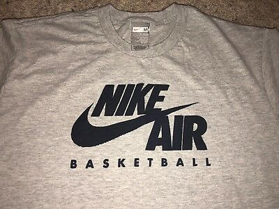 ea4f151c8f88af Vintage 90 s Nike Air Basketball Grey T-Shirt Rare Vtg Grey Tag Size Men s M