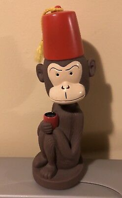 Shriner Monkey Bobblehead Head Knockers Accoutrements 2000 with Red Fez Tiki