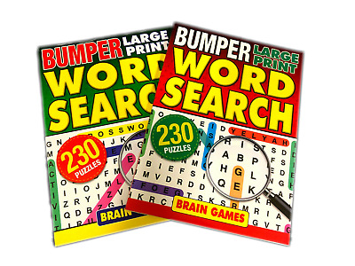 4 x BUMPER Word Search Book Words Find Puzzle Books A5 Size, 1784 Puzzles NEW