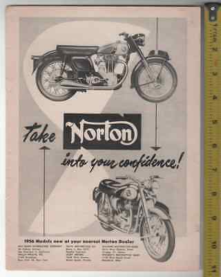 Norton Motorcycle Ad Lot of 6 B&W 10 and 11 inch advertisement