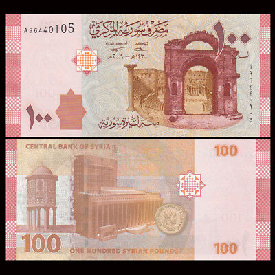 1 x Asian-SY 100 Pounds Paper Money,2009,P-113,Uncirculated