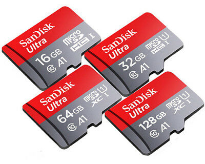 SanDisk Ultra A1 256GB 128GB 64GB 32GB 16GB micro SD SDHC SDXC Card Lot 100MB/s