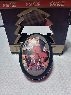 1990 Coca Cola Trim-A-Tree Collection Santa Claus Tin