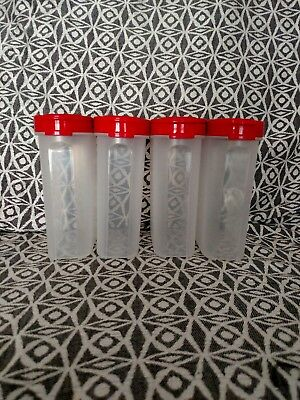 Tupperware 4Pcs Spice Container W/ Red Lid