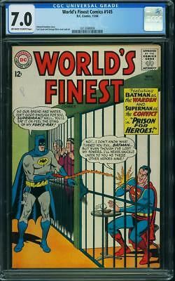 Worlds Finest Comics 145 CGC 7.0 -- 1964 -- Superman Batman Klein Swan