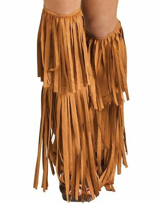 Hippie Fringe Tan Boot Covers One Size