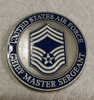 USAF CHIEF MASTER Sergeant Engravable Challenge Coin United States Air Force