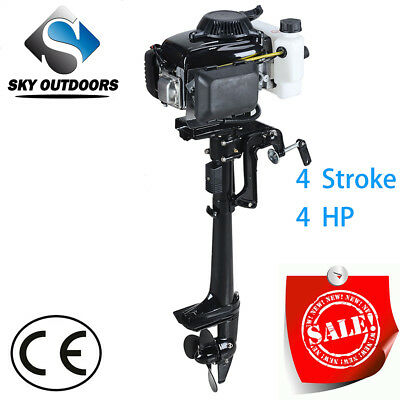 SKY 4 Stroke 4.0HP Superior Engine Outboard Motor for Inflatable Kayak Fishing