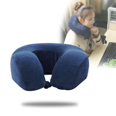 Memory Foam U Shaped Travel Pillow Neck Support Head Rest Airplane Cushion