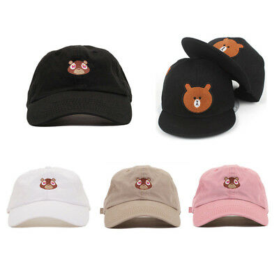 6a66f3a088e Kanye West Dropout Bear Dad Hat Embroidered Drake Baseball cap Yeezus