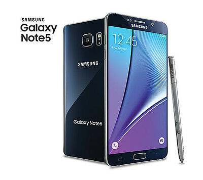 New Unlocked Samsung Galaxy Note 5 AT&T/T-mobile 32GB 4G LTE Smartphone BLACK