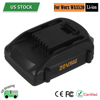 20V 2.0Ah Max Lithium Battery for WORX WA3520 WA3525 WG151s WG155 WG251s WG163