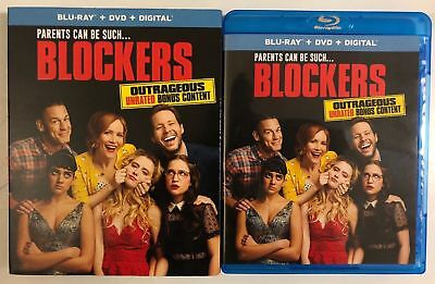 Blockers Blu-Ray Dvd 2 Disc Set Slipcover Sleeve Free World Wide Shipping