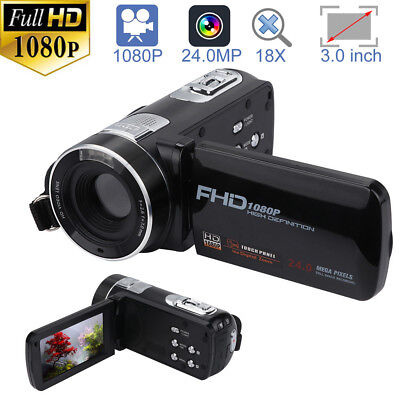 Full HD 1080P 3in Camcorder 24.0MP 18X Zoom Video Digital DV Camera Night Vision