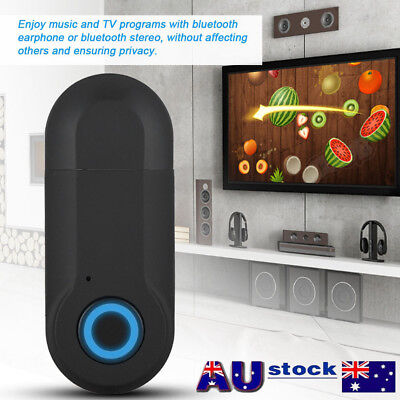 Bluetooth4.2 Transmitter Stereo Music Audio Adapter Dongle APTX For TV PC 10Mbps