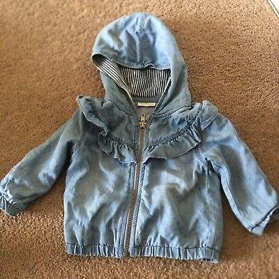 BUY3FORFREEPOST Next baby girl hooded jacket lightweight 6-9 months coat
