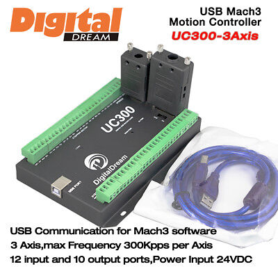 3 Axis CNC Motion Controller 300Khz for Mach3 with USB Communication UC300