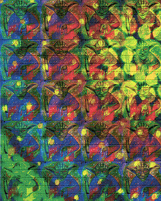 YODA - blotter art - psychedelic goa acid artwork