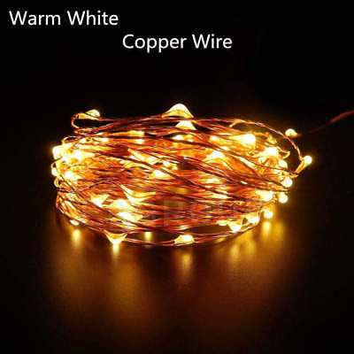 Warm Copper Wire String Lights 2-10 M Battery Powered Fairy Xmas Party AUS SELL