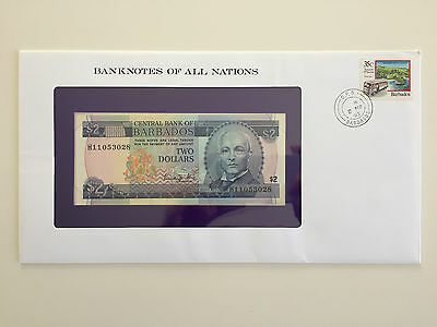Banknotes of All Nations – Barbados $2 Two Dollars UNC prefix H