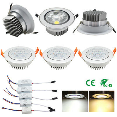 3W5W7W9W12W15W Led Light Recessed Ceiling Lamp Day Warm White Led Driver 12V220V