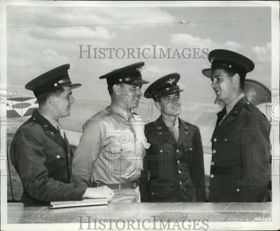1942 Press Photo 4 aviation cadets who will start from scratch in Army Air Force