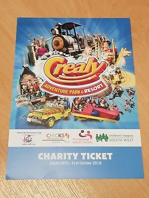 ~FA4~ Charity Ticket ~ Crealy Adventure Park & Resort ~ Valid Til 31st October ~