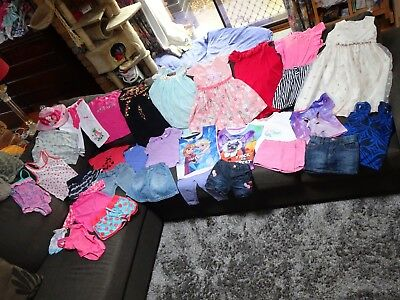 Bulk lot girls sz 3 summer clothes/dresses: GAP/Peppa Pig/Disney Frozen/Wiggles