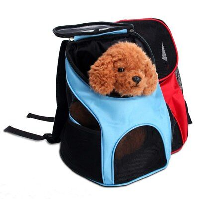 Pet Carriers Bags Dog Backpack Bag Mesh Portable Travel Puppy Front Bag Head Out
