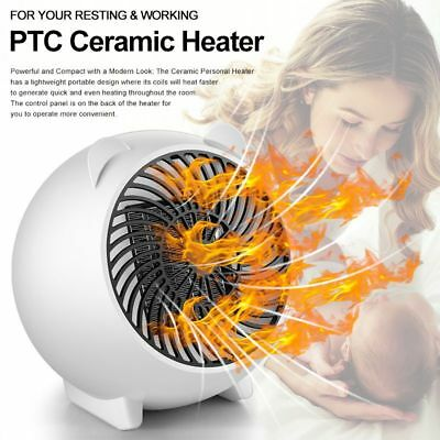220V PTC Ceramic Oscillating Heater Portable Electric Desk Fan for Home Office