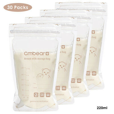 30Pcs Pre-sterilised BPA Free Baby Breast Milk Storage Bags Food Storage Pouch