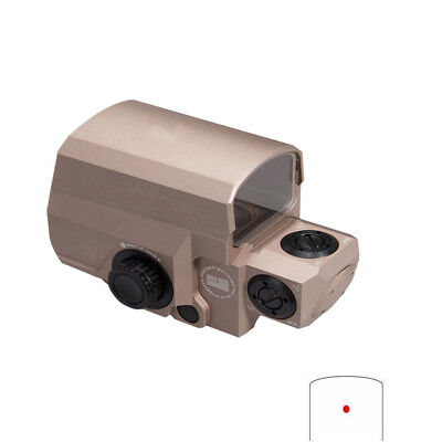 Optical Tactical Holographic 1x Red Dot Sight Scope 1 MOA Dot Hunting Mount Tan