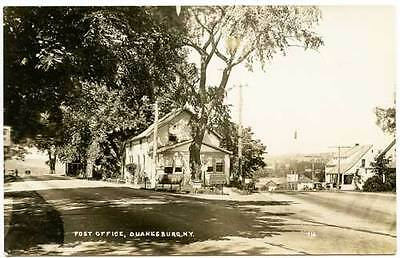 Duanesburg Ny Dirt Post Office Cppr Genuine Photo Postcard