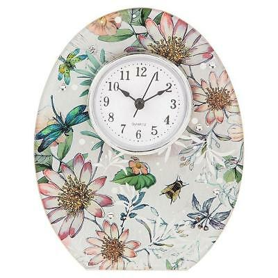 Botanical Mayfly Meadow Colourful Butterfly Clock New Boxed 285596
