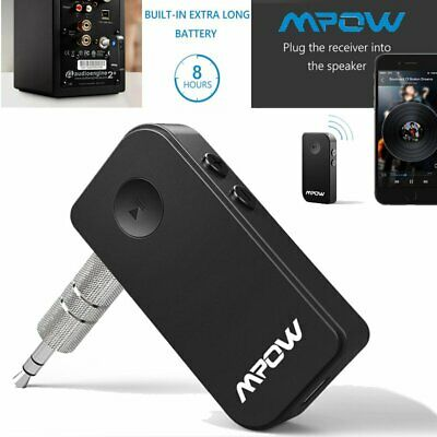 MPOW Wireless Bluetooth 3.5mm Audio Stereo Music Home Car Receiver Adapter AU