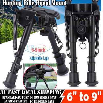 "Adjustable Leg 6"" to 9"" Height Sniper Hunting Rifle Bipod Sling Swivel Mount AU"