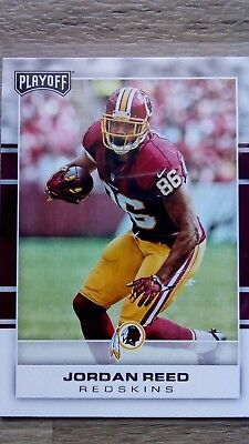 Nfl trading cards, Jordan Reed, Washington Redskins, Playoff 2017