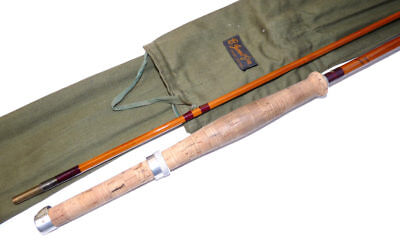 B James London The Chew split cane trout fly rod with makers bag