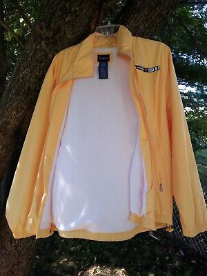Vintage Catalina Ladies Yellow Golf Fall Windbreaker Fully Lined Size L 12-14