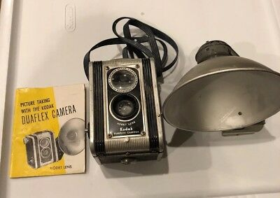 Kodak Duaflex Camera Vintage With Kodet Lens And Flash Holder