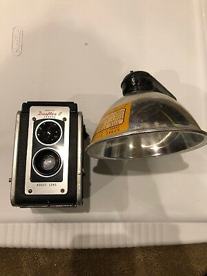 VINTAGE Kodak Duaflex II Camera with Kodet Lens and Kodak Duaflex Flasholder