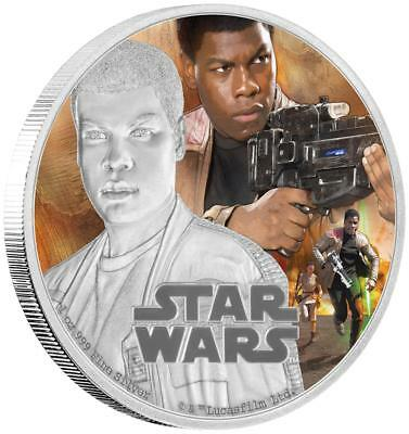 Niue - 2 Dollar 2016 - Star Wars™ - Force Awakens™ (5.) - Finn™ - 1 Oz Silber PP